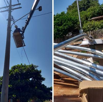 Prefeitura de Caracol instala lâmpadas de Led no município