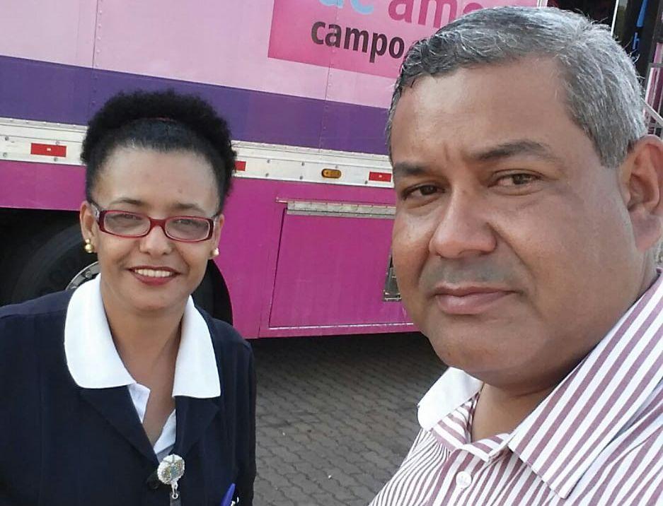 """Hemerson Buiu participou da abertura oficial da campanha de prevenção do câncer de mama """"Outubro Rosa 2019"""", Hospital de Amor de Barretos."""
