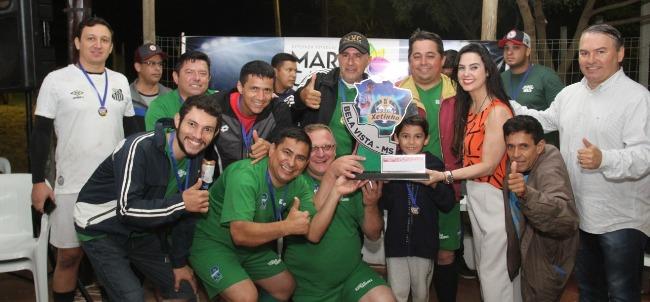 Parceira do 5º Campeonato de Futebol Entre Amigos, de Bela Vista, Mara Caseiro destaca importância do esporte na vida das pessoas