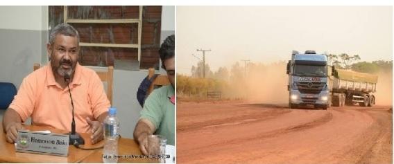 Moradores do Bairro Primavera e Costa e Silva reclamam da grande quantidade de poeira