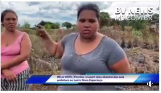 Bela Vista: Famílias que invadiram terreno temem despejo e dizem não ter para onde ir