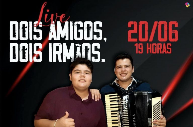 """20/06: Com uma mega estrutura e sorteio de prêmios, Matheus Brasil e Anderson Filho farão LIVE """"DOIS AMIGOS, DOIS IRMÃOS"""""""