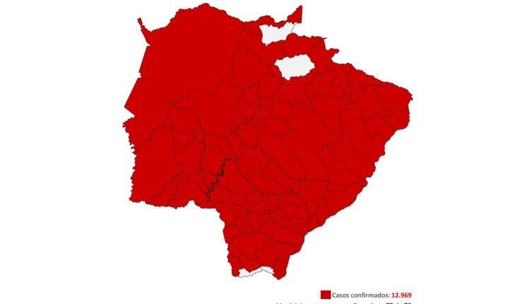Coronavírus já atinge 95% dos municípios de MS; 4 cidades nos 'extremos' ainda seguem sem casos