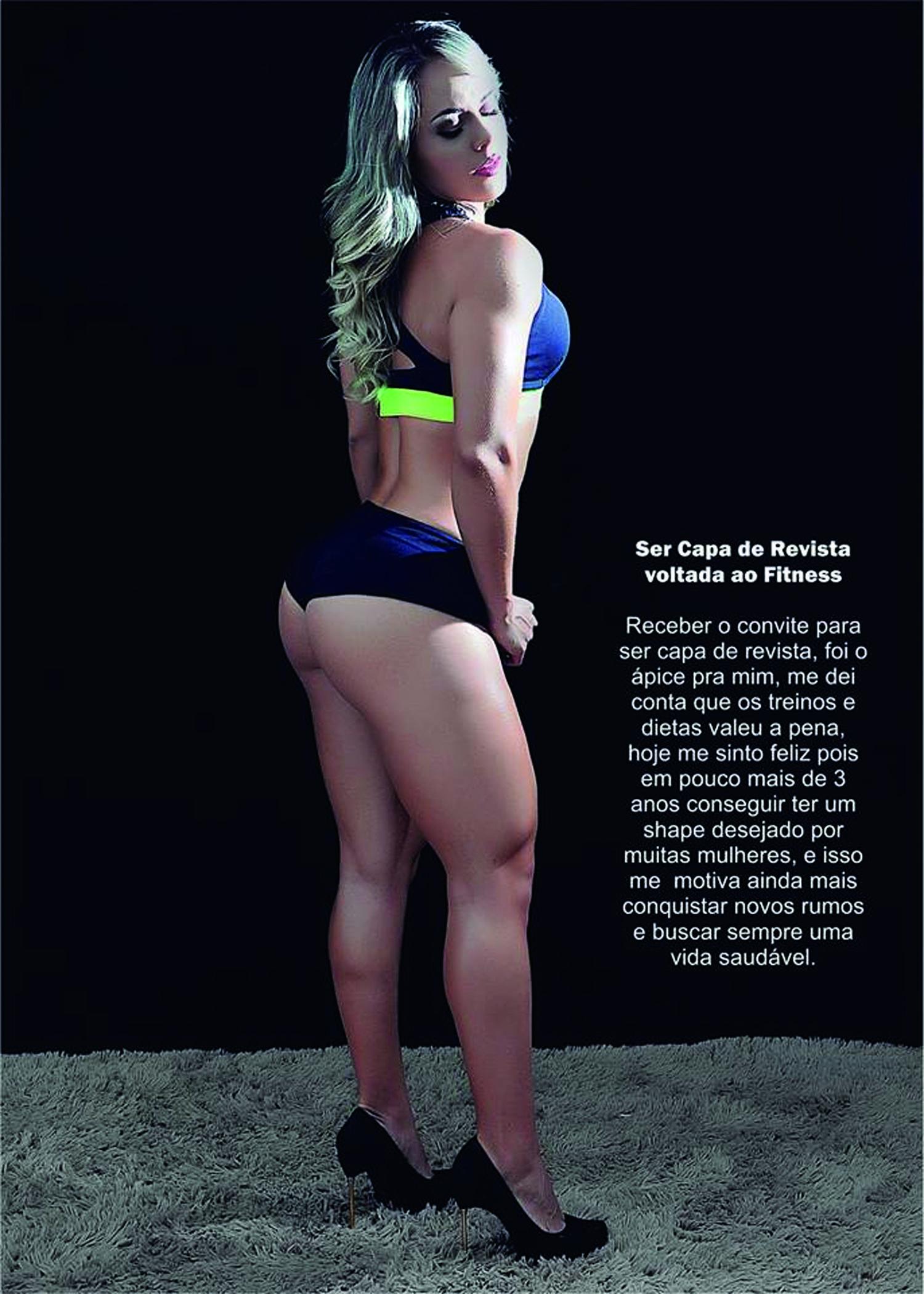 Confira o Ensaio fotográfico da modelo Sueli Ribas capa da Revista Vida Fit
