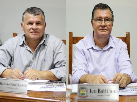 Vereador Ramão Paredes e Ico Battilani reivindicam rede de água para  a região do Pirapoca