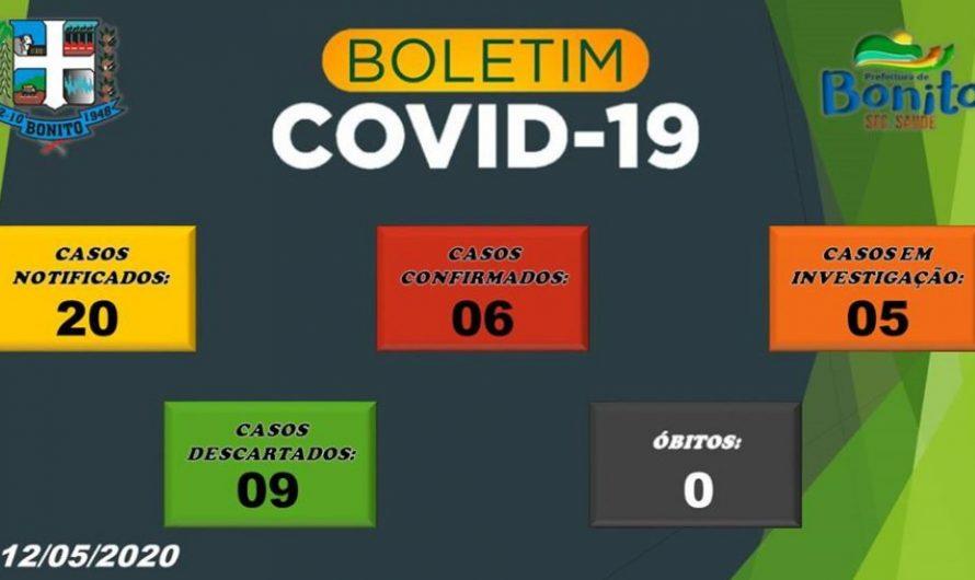 6 CASOS CONFIRMADOS EM BONITO