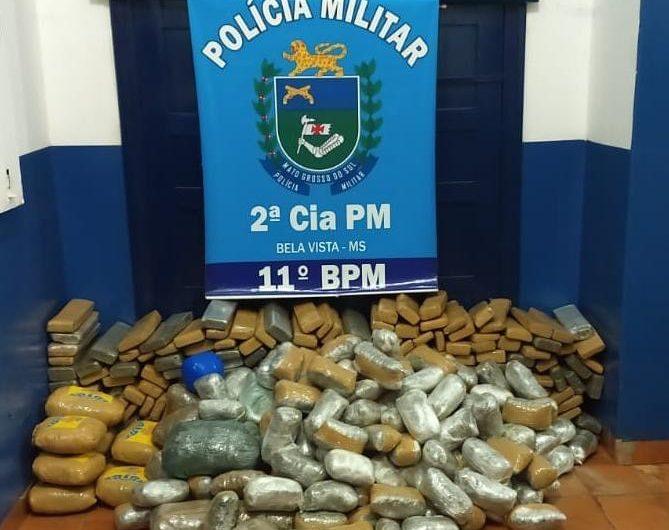Polícia Militar em Bela Vista prende mulher por Tráfico de Drogas e Abandono de Incapaz, apreende dois veículos utilizados a serviço do crime e mais de 300 kg de entorpecentes