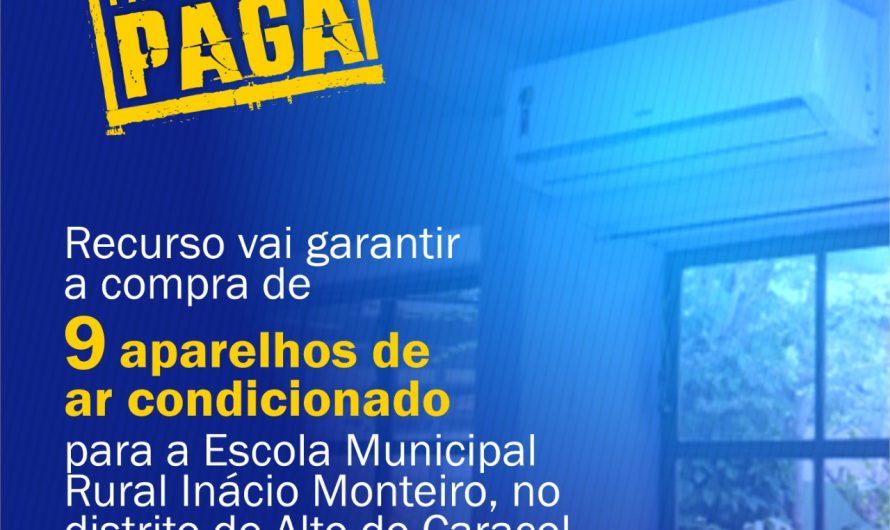 Após pedido dos vereadores Preguinho, Nego, Dilmar e Luiz Jarson, Deputado Renato Câmara anuncia aparelhos de ar condicionado para escola do Alto Caracol