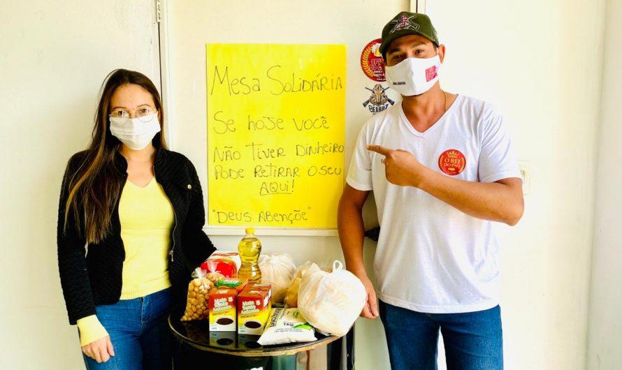 Em padaria de Bela Vista, casal cria mesa solidária e faz doações para quem não pode pagar