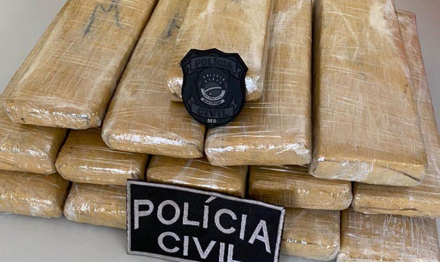 INDIVÍDUO É PRESO COM 15 QUILOS DE MACONHA PELA POLÍCIA CIVIL DE BELA VISTA