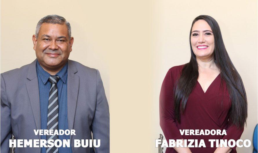Hemerson Buiu e Fabrizia reivindicam emenda no valor de 50 mil ao deputado Felipe Orro para aquisição de computadores