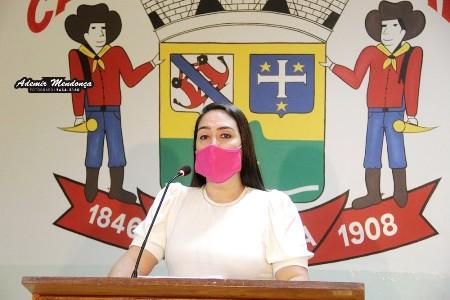 Vereadora Fabrizia Tinoco sugere ao prefeito Decreto adiando pagamento de Impostos