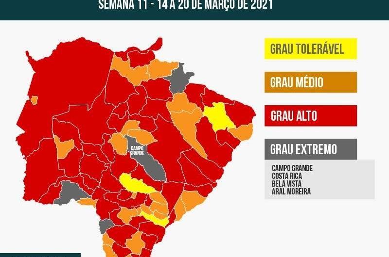 """BELA VISTA – Prosseguir recomenda """"fechar tudo"""" na Capital e mais 3 cidades"""