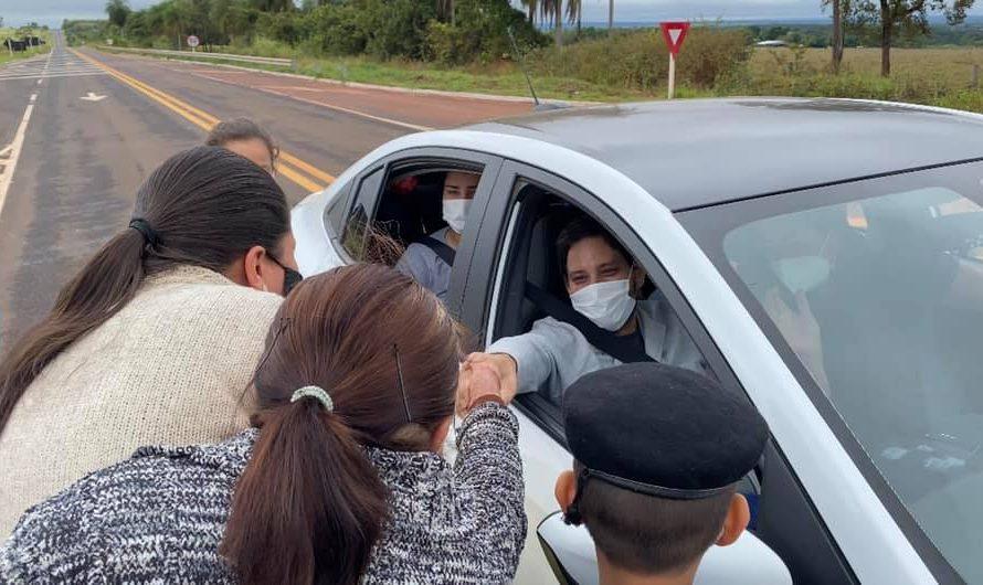 Após 29 dias internado, policial militar vence a Covid-19 e recebe homenagem em Bela Vista