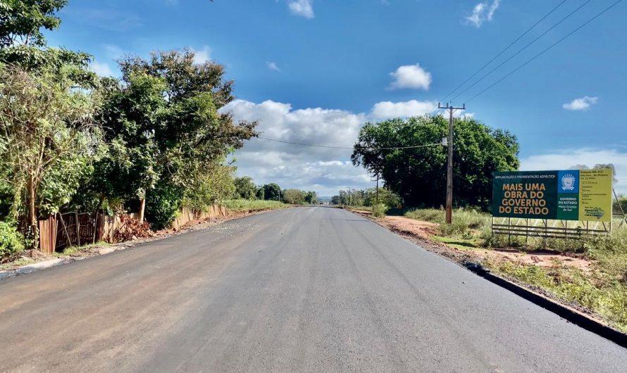 Em Bela Vista, estrada das Caieras recebe os primeiros quilômetros de asfalto