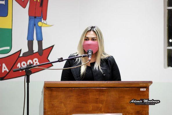BELA VISTA: CÂMARA MUNICIPAL OUVE ADRIELLY DOS SANTOS