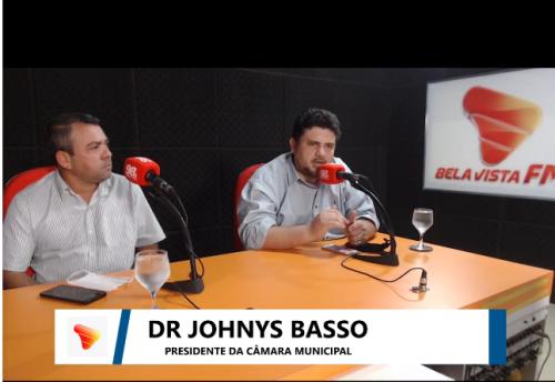 Presidente da Câmara Johnys Basso e vereador Geferson Vieira são entrevistados em programa de radio em Bela Vista
