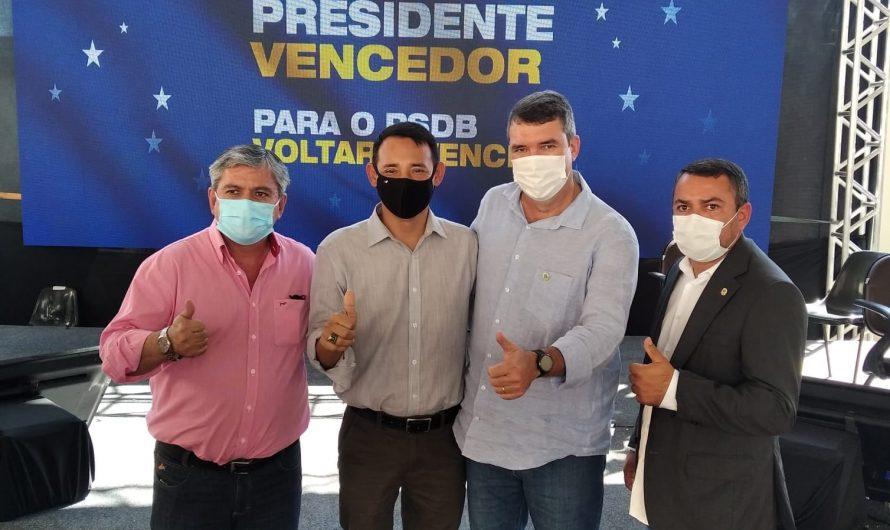 PREFEITO PITI E VEREADORES ORALDINO E GEFERSON PARTICIPAM DE PRÉVIAS DO PSDB, NA CAPITAL