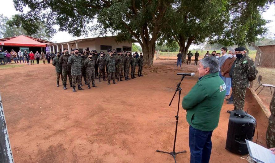 Prefeitura e 10° RC Mec, realizaram dia 11, no Assentamento Barra do Ita a Ação Cívico Social – ACISO.